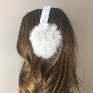 Michael Kors Rabbit Fur Ear Muffs
